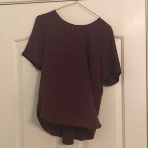 Maroon Blouse, Back lace detail